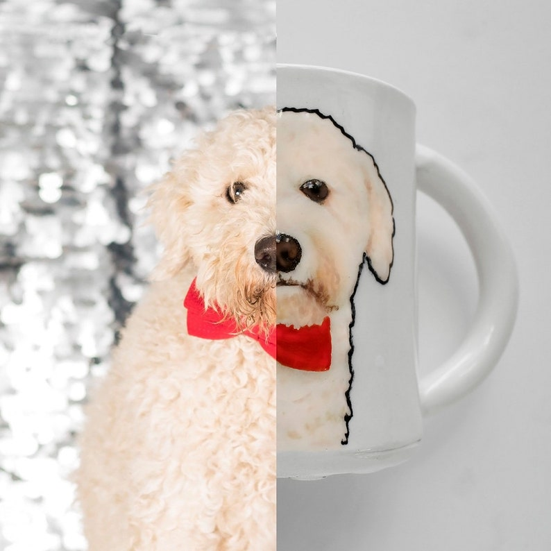 Painted Pet Portrait Mug  created from your photo  image 0