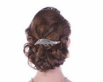 Vintage Rhinestone Hair Adornment Barrette