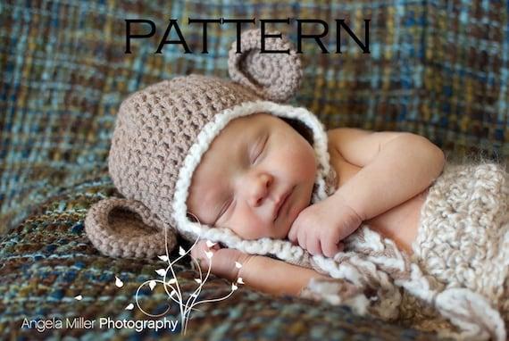 Baby Monkey Hat Crochet Pattern Pdf Etsy