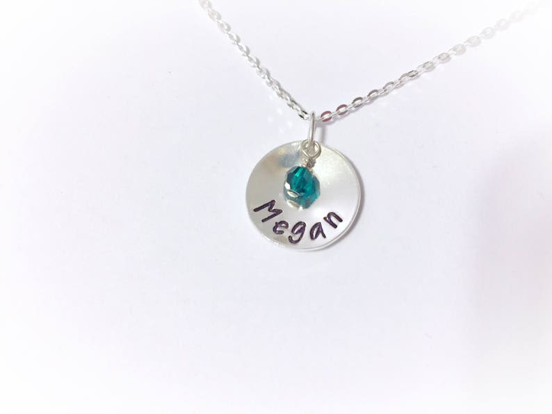 01ca41a4f Personalized Necklace Name Necklace Stamped Necklace   Etsy