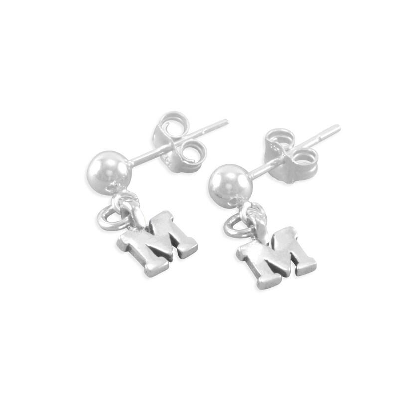 8c82058e83d Initial Earrings Letter Earrings Sterling Silver Post