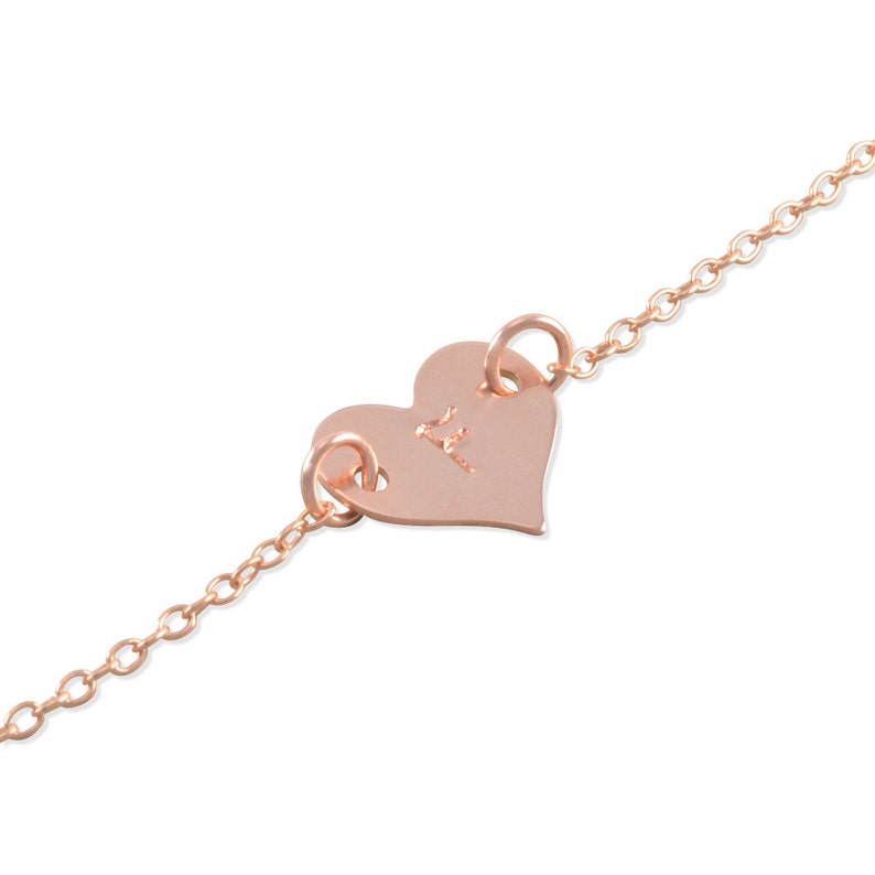 2bddf4b5dfc Rose Gold Baby Bracelet Heart yellow gold sterling silver