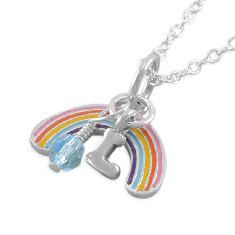 Rainbow Necklace Sister Necklaces Birthday Jewelry