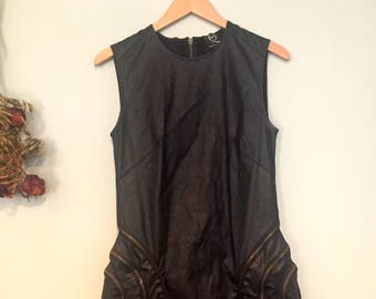 Alexander McQueen Pleather Zipper Dress
