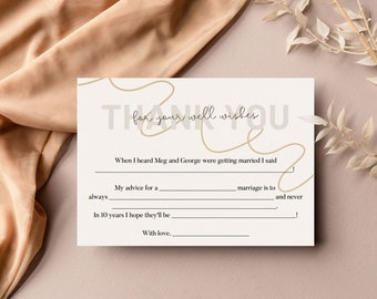 Beige Wedding Guest Mad Lib Guest Book FOR CANVA