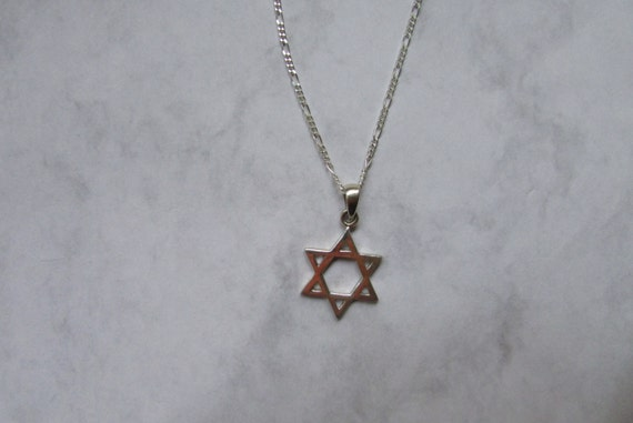 Sterling Silver Pendant Star Necklace Jewish Star Pendant Star of David Necklace Mens and womens Simple star of David Everyday Necklace