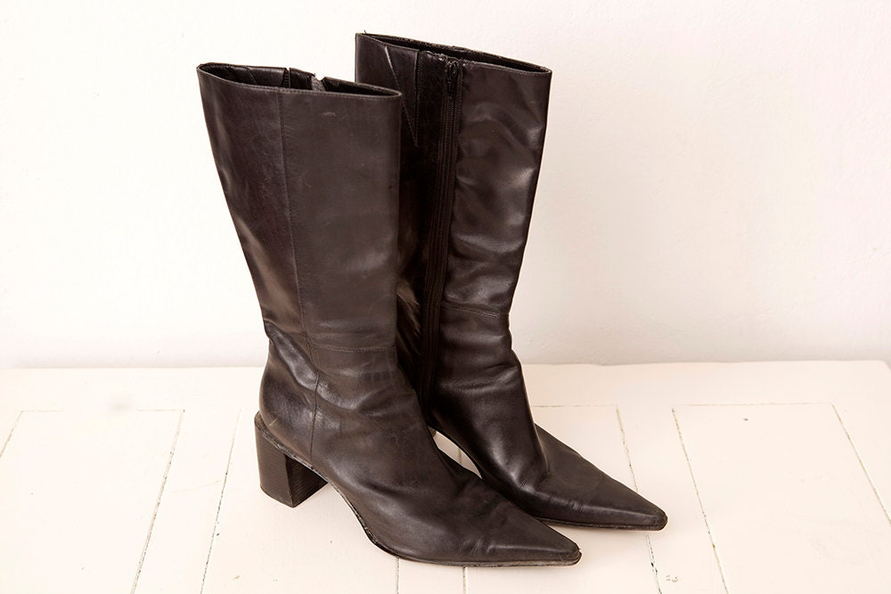 Vintage Nine West Pointy Toe  botas  tamaño tamaño tamaño 9m 303ab0