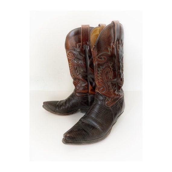Sendra Cowboy Boots, size 8 european 41, brown vin