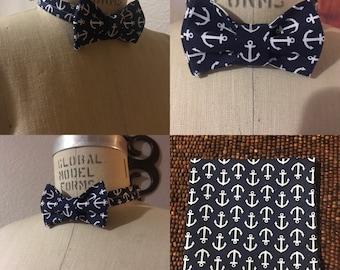 Anchor Bow Tie w/Pocket Square