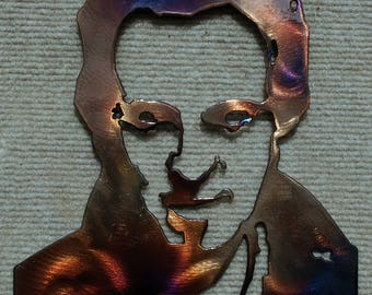 """6"""" or 10"""" Bruce Springsteen metal art protected with powder coat"""