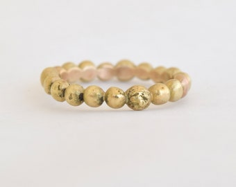 Solid Gold Pebble Ring in 14k, 18k, or 22k