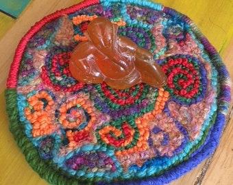 Celtic Spirals Hooked Altar Rug