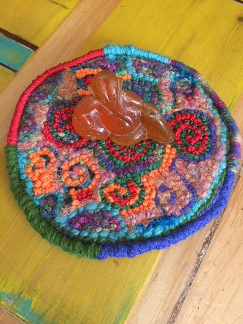 Celtic Spirals Hooked Altar Rug image 0