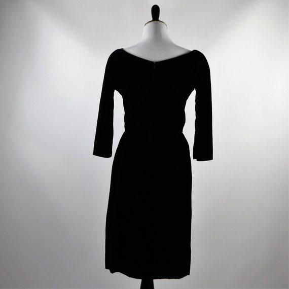 Vintage 1950's Suzy Perette Black Velvet Cocktail… - image 2