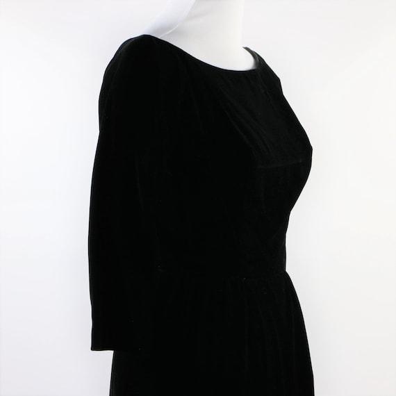 Vintage 1950's Suzy Perette Black Velvet Cocktail… - image 8
