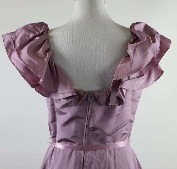 Vintage 1970's Pastel Mauve / Lilac Purple Gown W… - image 8