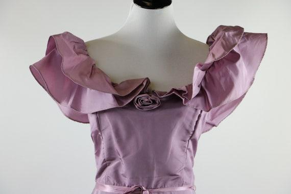 Vintage 1970's Pastel Mauve / Lilac Purple Gown W… - image 1