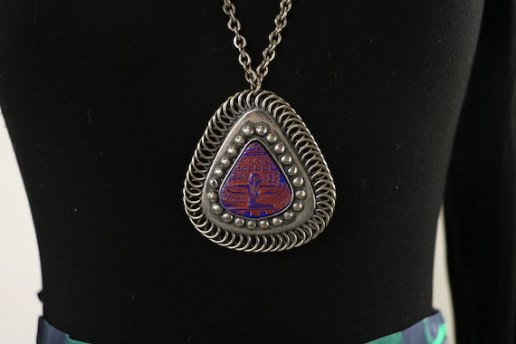 Vintage Egyptian Revival Isis Necklace - image 3