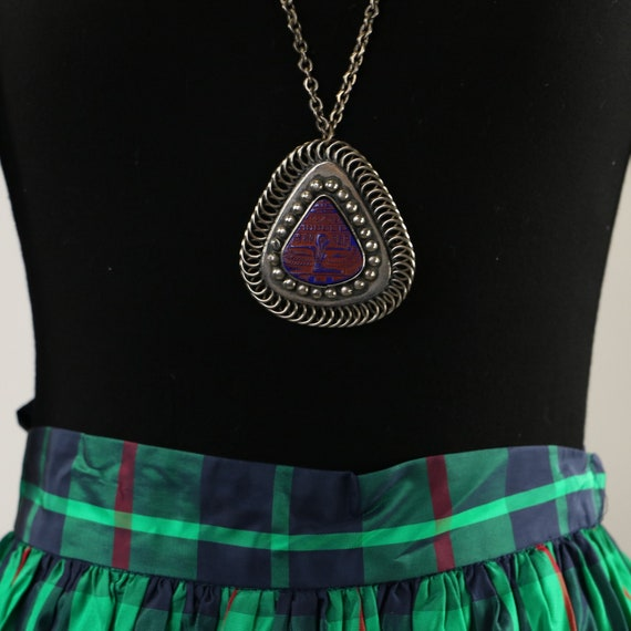 Vintage Egyptian Revival Isis Necklace - image 7