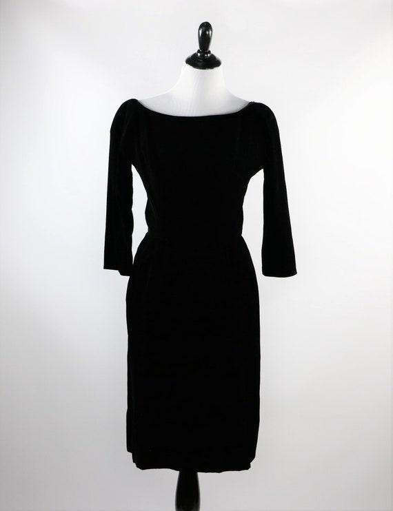 Vintage 1950's Suzy Perette Black Velvet Cocktail… - image 7