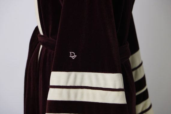 Vintage Christian Dior Deep Maroon and Cream Loung