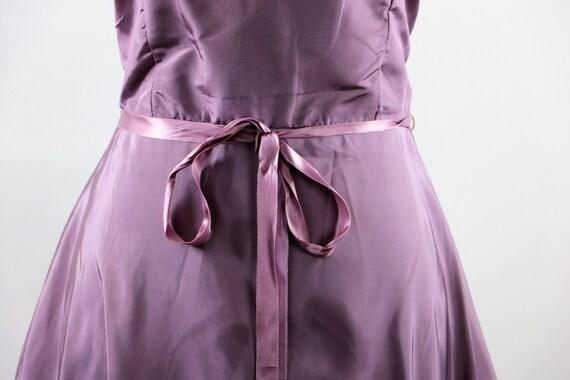 Vintage 1970's Pastel Mauve / Lilac Purple Gown W… - image 3
