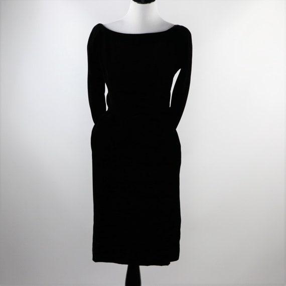 Vintage 1950's Suzy Perette Black Velvet Cocktail… - image 4