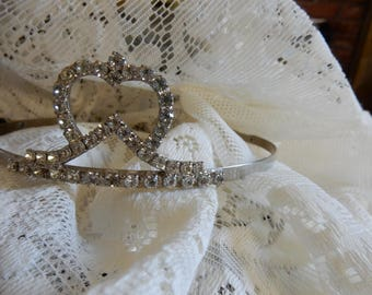 Vintage, Simple,Rhinestone 1950's Tiara for Weddings and Dress Up/Second of Two