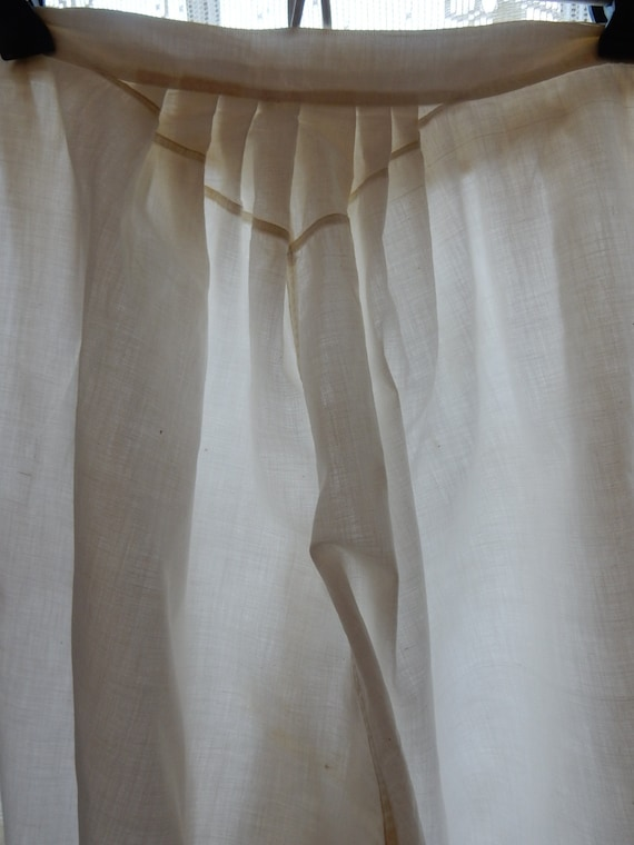 Antique Cotton Bloomers/One piece side opens/Vint… - image 6