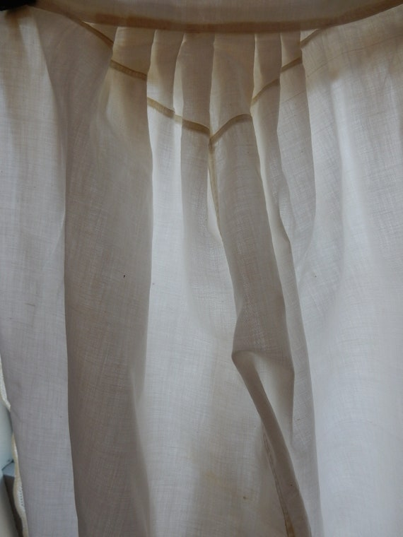 Antique Cotton Bloomers/One piece side opens/Vint… - image 7