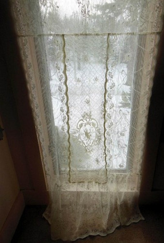 All Cotton Patchwork Lace Curtains Made, Lace Curtains Band