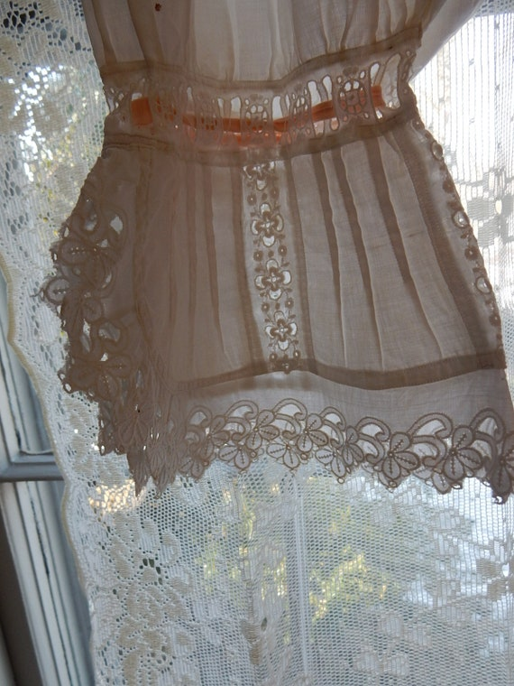 Antique Cotton Bloomers/One piece side opens/Vint… - image 3