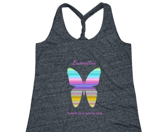 Women's Cosmic Twist Back Butterfly Tank Top