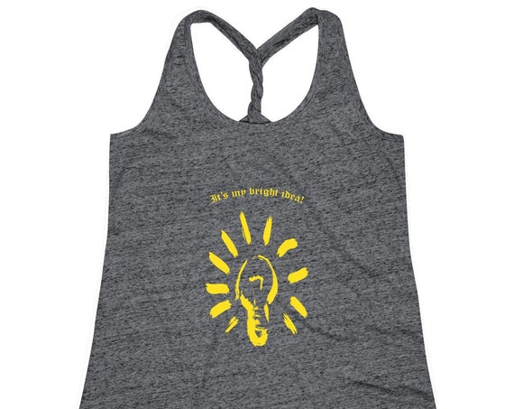 Women's Cosmic Twist Back It's My Bright Idea! Tank Top