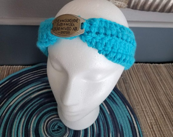 Imperfectly Perfect Hobo Headband with Inscription Design - Medium