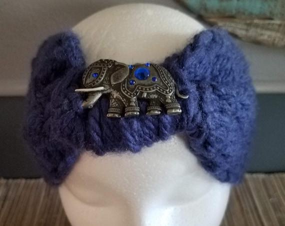 Imperfectly Perfect Hobo Headband with Elephant Design - Medium & Wide