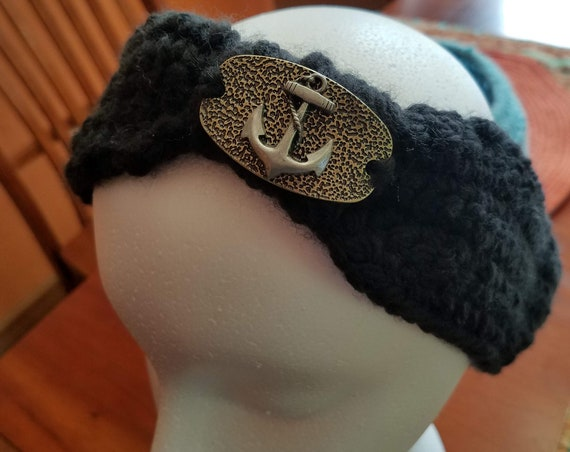Imperfectly Perfect Hobo Headband with Anchor Design - Large