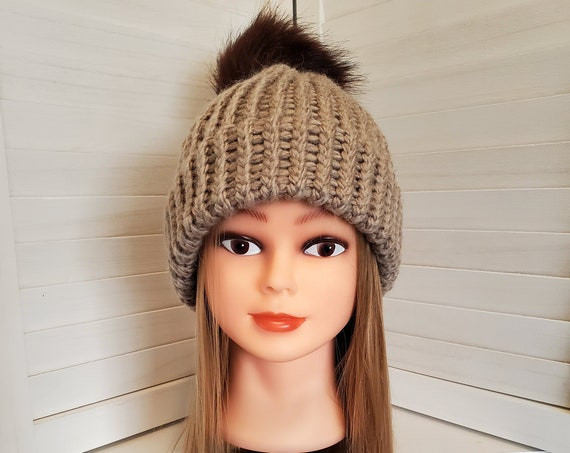 Hand-Loomed Double Brimmed Extra Warm Winter Beanie