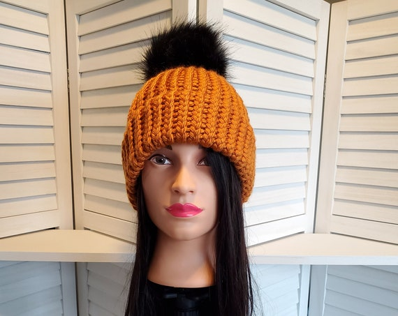 Hand-Loomed Double Brimmed Warm Winter Beanie