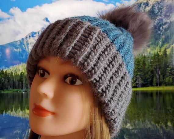 Handmade Double Brim Hobo Beanie Hats with 20% Alpaca!
