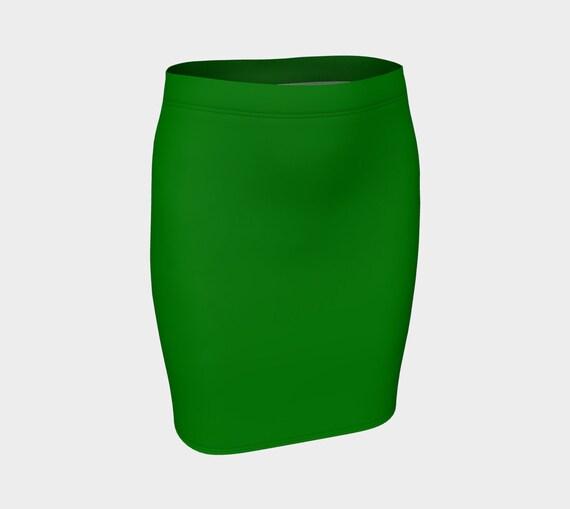 Plain Jane Green Fitted Skirt