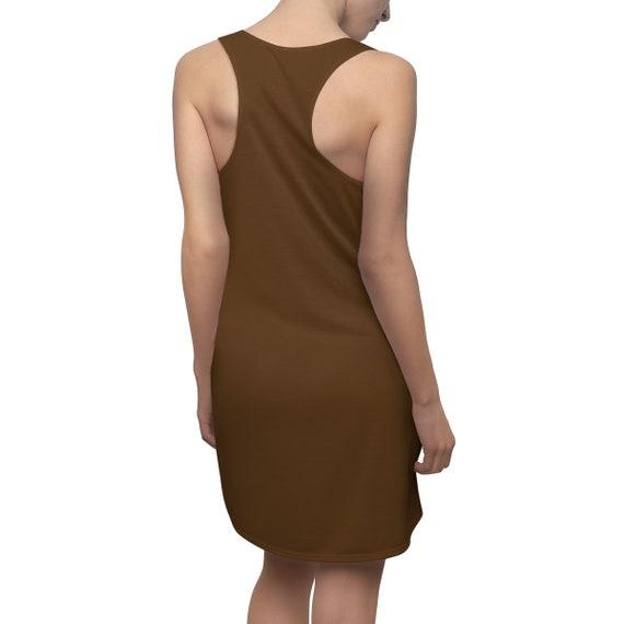 Brown Racerback Dress