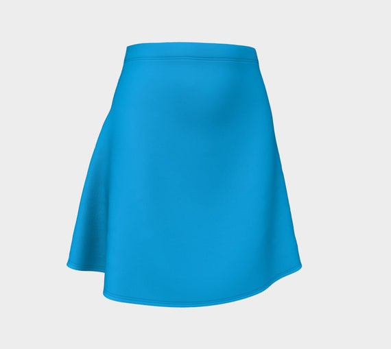 Deep Sky Blue Flare Skirt