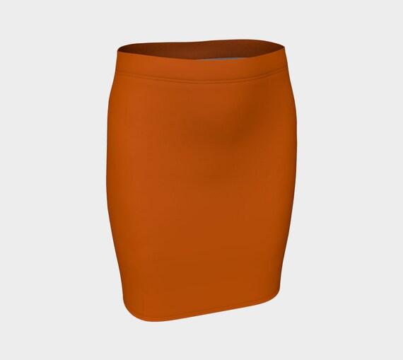 Burnt Orange Fitted Skirt