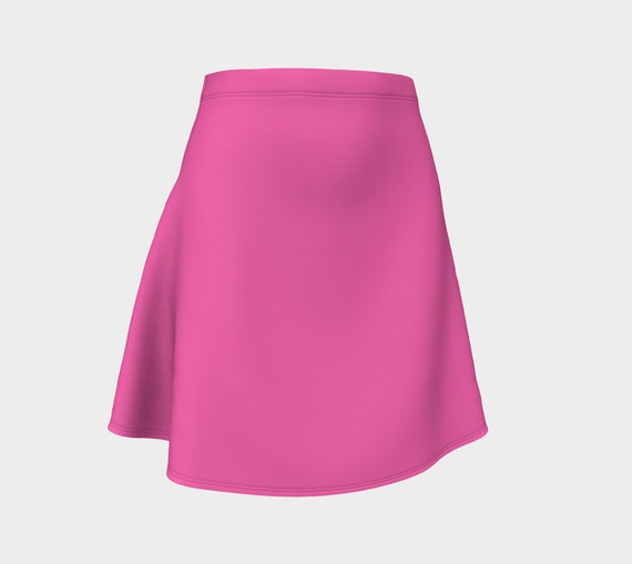 Hot Pink Flare Skirt