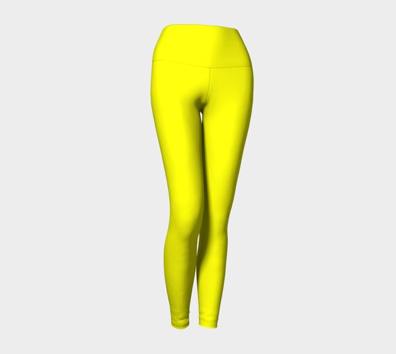 Yellow Yoga Leggings