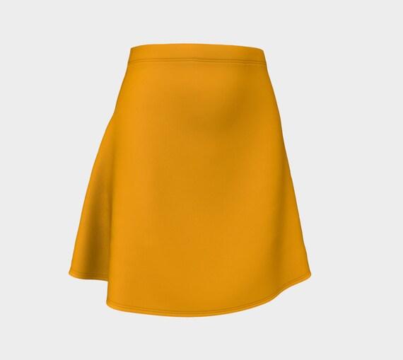 Fruity  Orange Flare Skirt