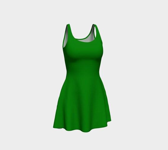 Plain Jane Green Flare Dress