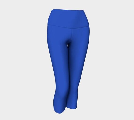 Cerulean Blue Yoga Capris