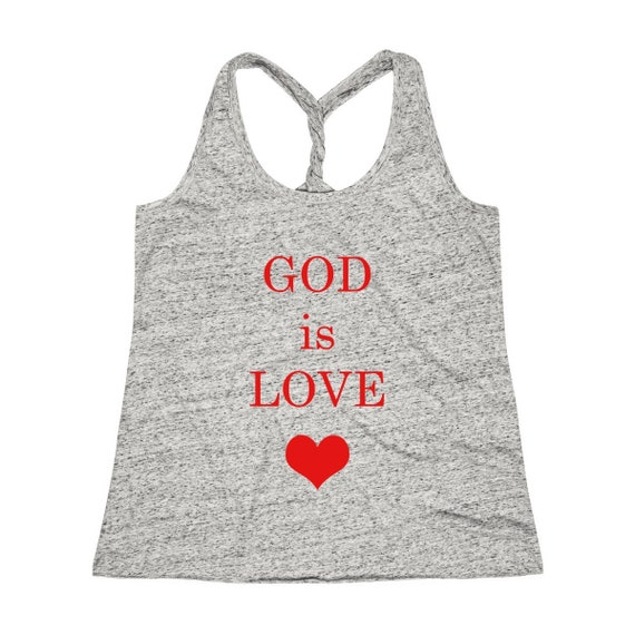 Women's Cosmic Twist Back GOD is LOVE Tank Top